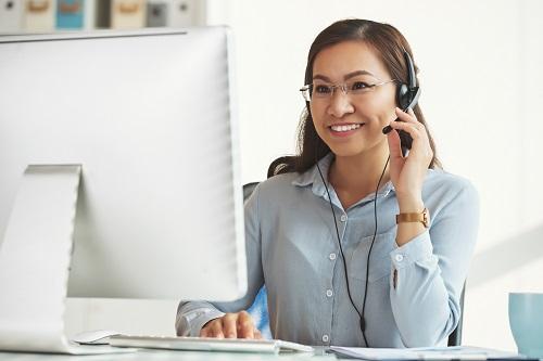 un logiciel dans un centre d'appels